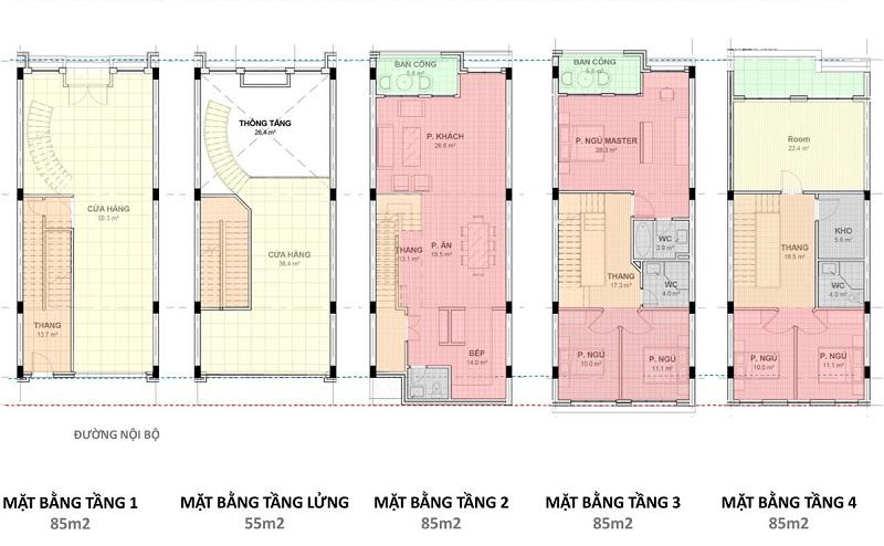 Shophouse kết hợp với ở dự án Hải Giang Merry Land Quy Nhơn - Hưng Thịnh Corp