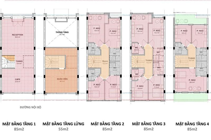 Shophouse kinh doanh khách sạn dự án Hải Giang Merry Land Quy Nhơn - Hưng Thịnh Corp