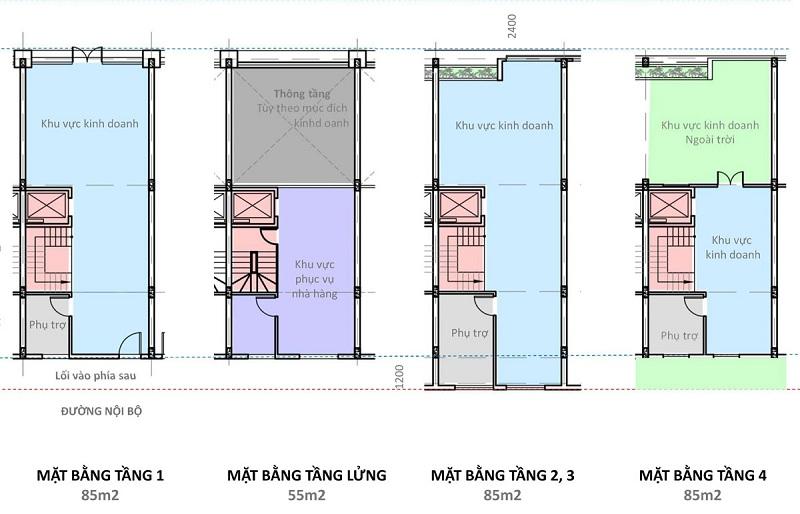Shophouse kinh doanh nhà hàng dự án Hải Giang Merry Land Quy Nhơn - Hưng Thịnh Corp
