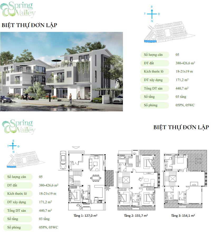 Thiết kế biệt thự đơn lập phân khu Spring Valley 1C Ecopark - Thung Lũng Mùa Xuân