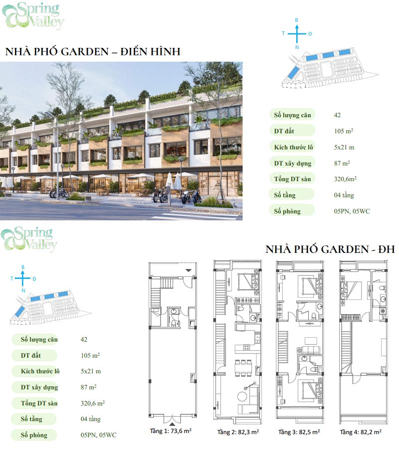 Thiết kế nhà phố điển hình phân khu Spring Valley 1C Ecopark - Thung Lũng Mùa Xuân