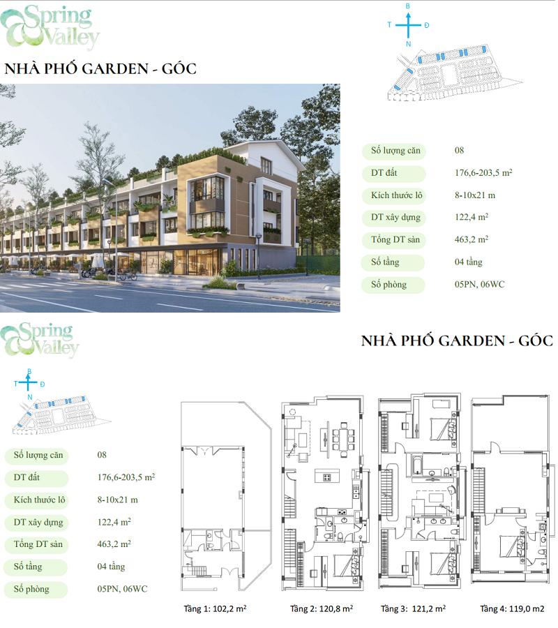 Thiết kế nhà phố góc phân khu Spring Valley 1C Ecopark - Thung Lũng Mùa Xuân