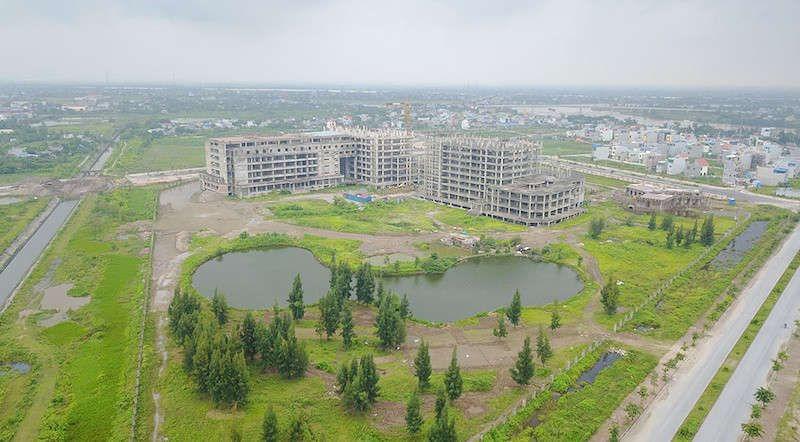 Tiến độ thi công bệnh viện 700 giường khu đô thị Mỹ Trung - Nam Định