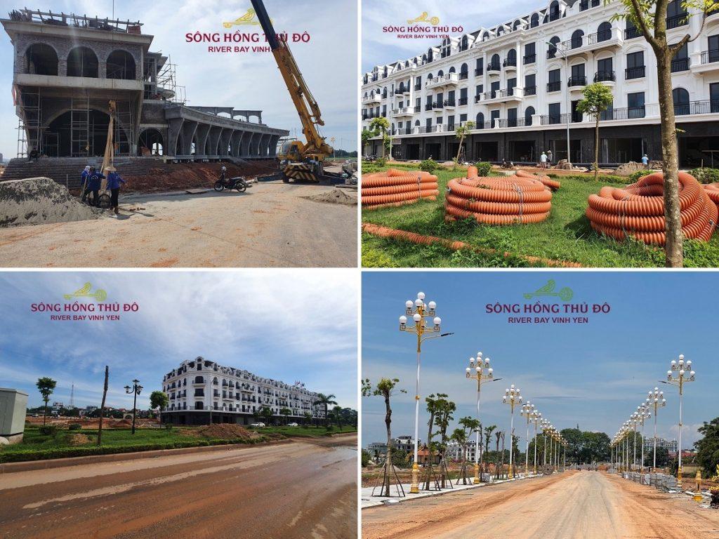 Tiến độ thực tế dự án River Bay Vĩnh Yên - Bắc Đầm Vạc