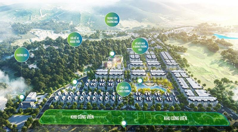 Tiện ích khu đất đấu giá Phương Đông Green Valley Lương Sơn - Hòa Bình