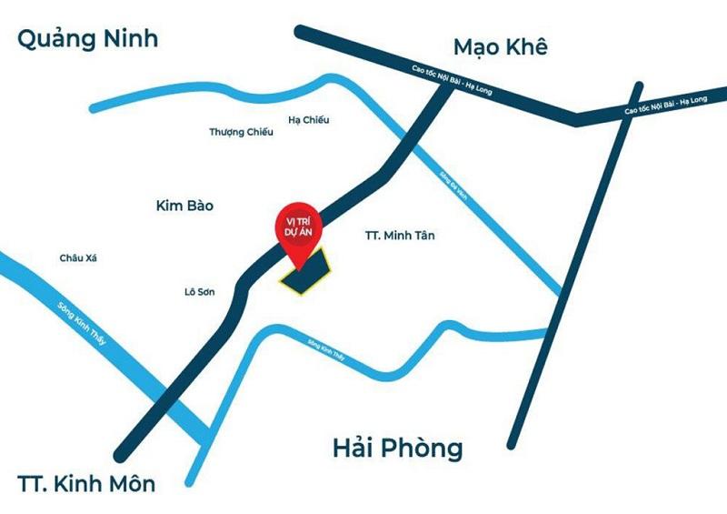 Vị trí dự án đất nền Bắc Phú Thứ - Kinh Môn - Hải Dương