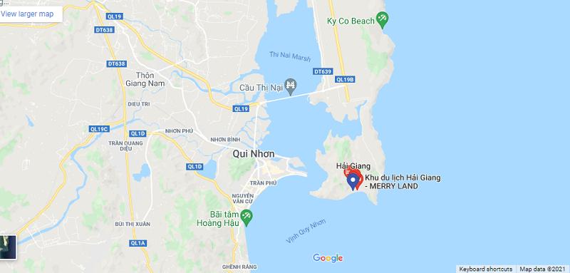 Vị trí dự án Hải Giang Merry Land Quy Nhơn - Hưng Thịnh Corp