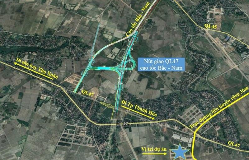 Vị trí khu đất đấu giá Đồng Nam - Đông Sơn - Thanh Hóa
