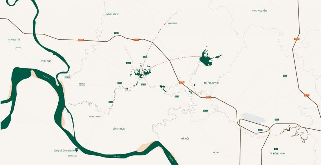 Vị trí dự án River Bay Vĩnh Yên - Bắc Đầm Vạc
