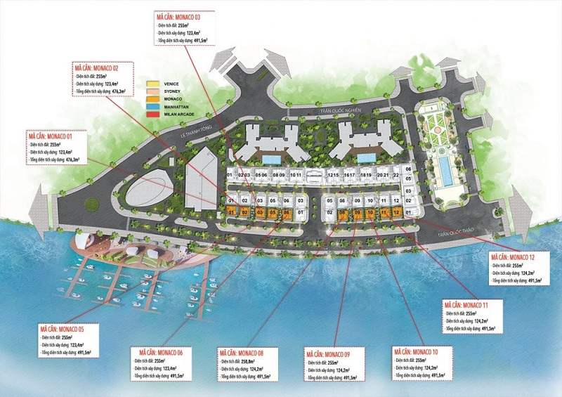 Biệt thự Monaco dự án The Sapphire Mansions Hạ Long - Doji