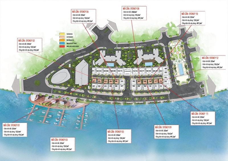 Biệt thự Sydney dự án The Sapphire Mansions Hạ Long - Doji