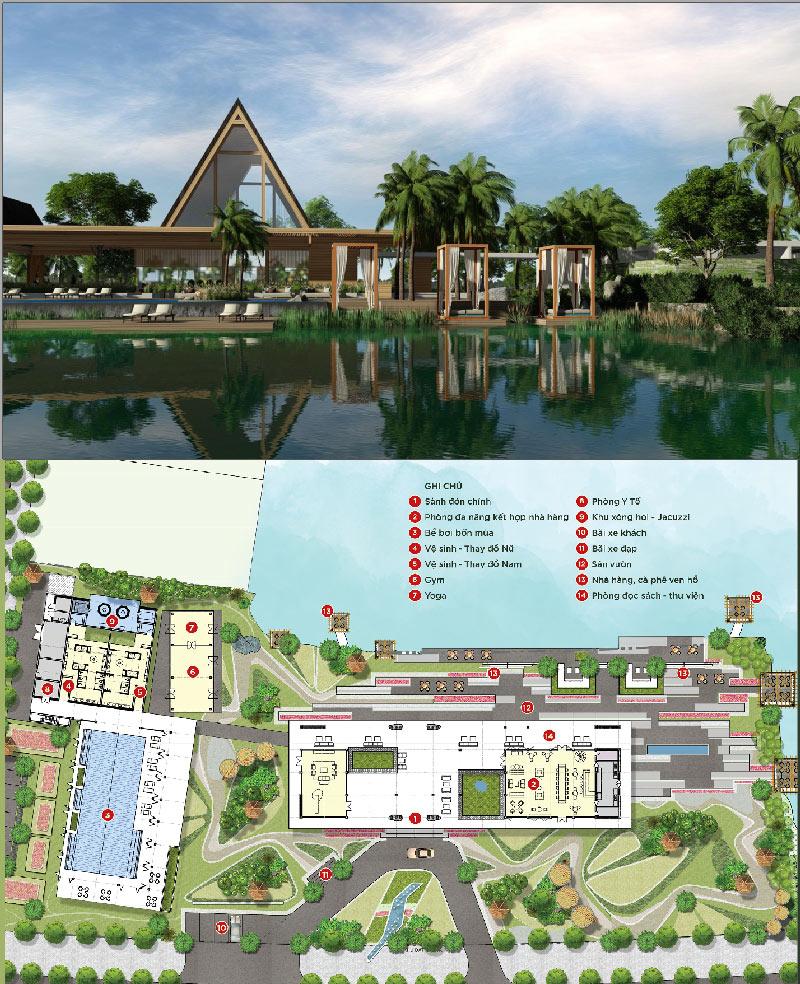 Clubhouse biệt thự đảo lớn Ecopark Sofitel Residences Villas