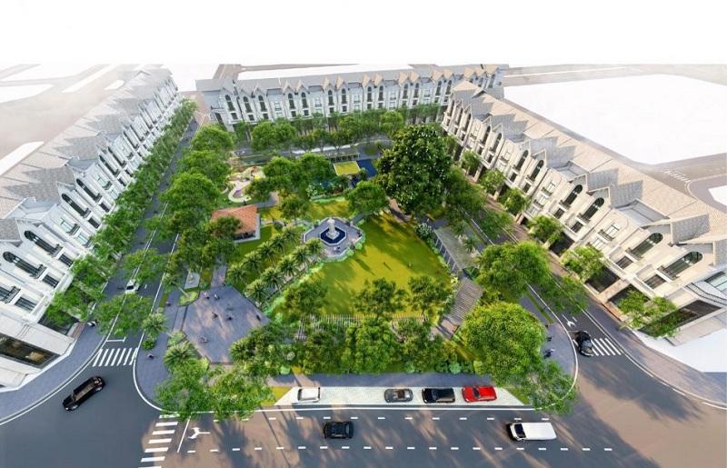 Công viên xanh dự án Kim Đô Policity Yên Phong - Bắc Ninh