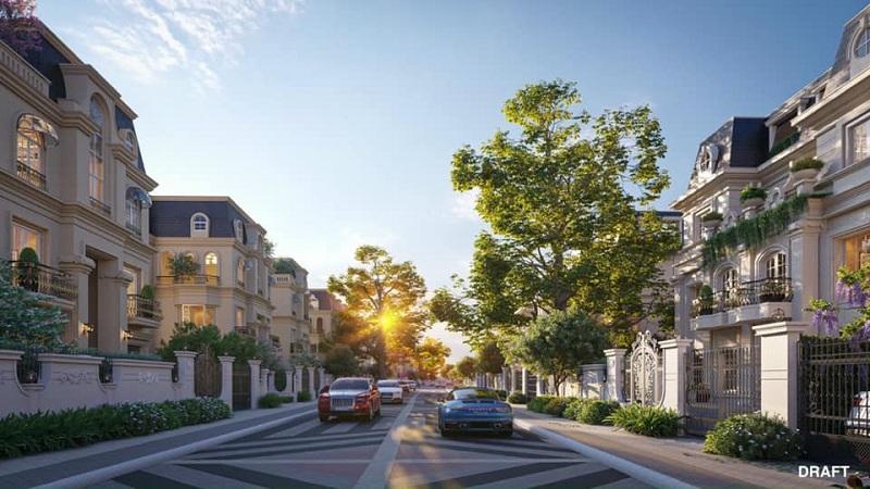 Đường nội bộ dự án The Sapphire Mansions Hạ Long - Doji