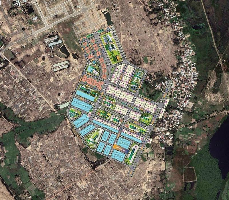 Flycam đất nền Indochina Riverside Complex Nam Đà Nẵng