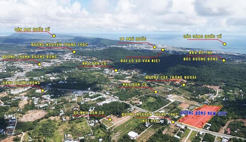 Flycam dự án đất nền Dương Đông New City Phú Quốc