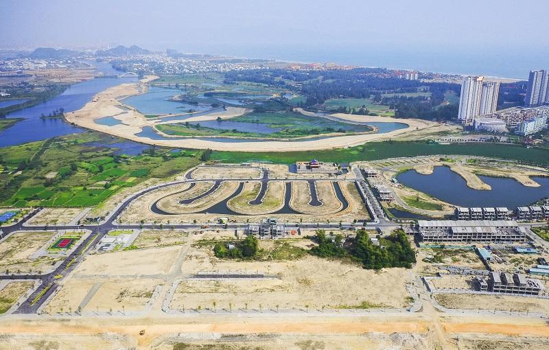 Flycam tiến độ thực tế biệt thự Regal Victoria Quảng Nam