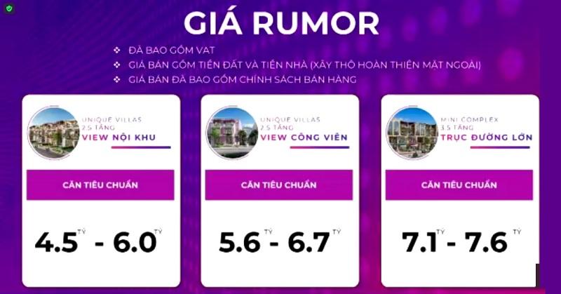Giá Rumor dự án ParaSol KN Paradise Cam Ranh Khánh Hòa