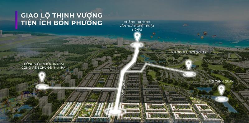Hạ tầng giao thông dự án ParaSol KN Paradise Cam Ranh Khánh Hòa