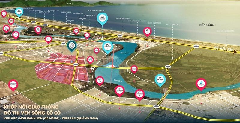 Kết nối đất nền Indochina Riverside Complex Nam Đà Nẵng