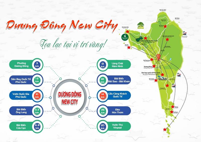 Kết nối dự án đất nền Dương Đông New City Phú Quốc