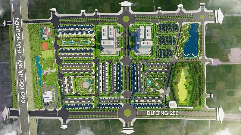 Mặt bằng khu A dự án Kim Đô Policity Yên Phong - Bắc Ninh