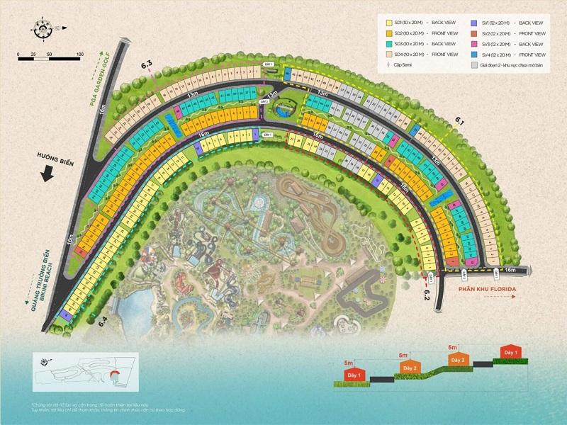 Mặt bằng phân lô dự án biệt thự Waikiki Novaworld Phan Thiết