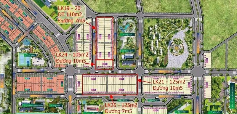 Mặt bằng phân lô đất nền Indochina Riverside Complex Nam Đà Nẵng