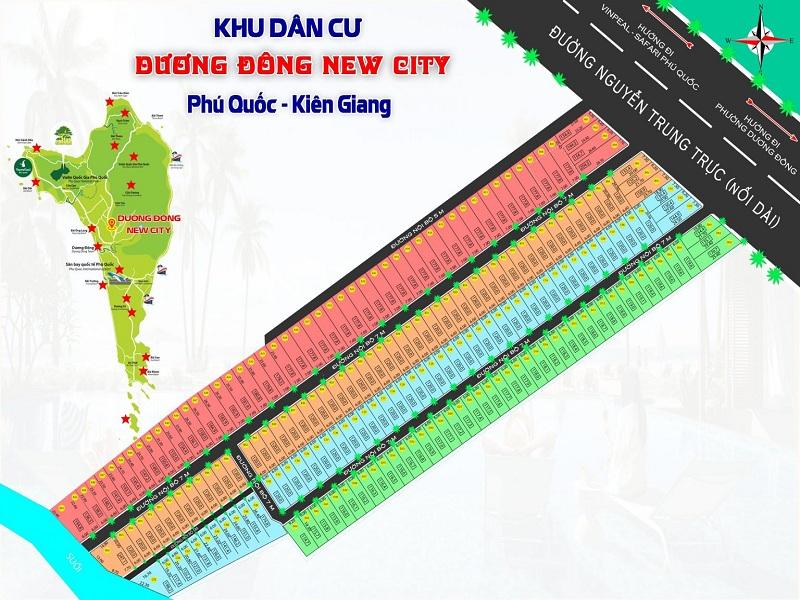 Mặt bằng phân lô dự án Dương Đông New City Phú Quốc