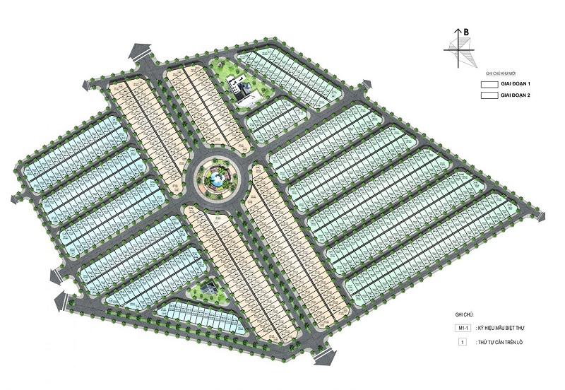 Mặt bằng phân lô dự án biệt thự Will State khu B Dương Nội - Tập đoàn Nam Cường