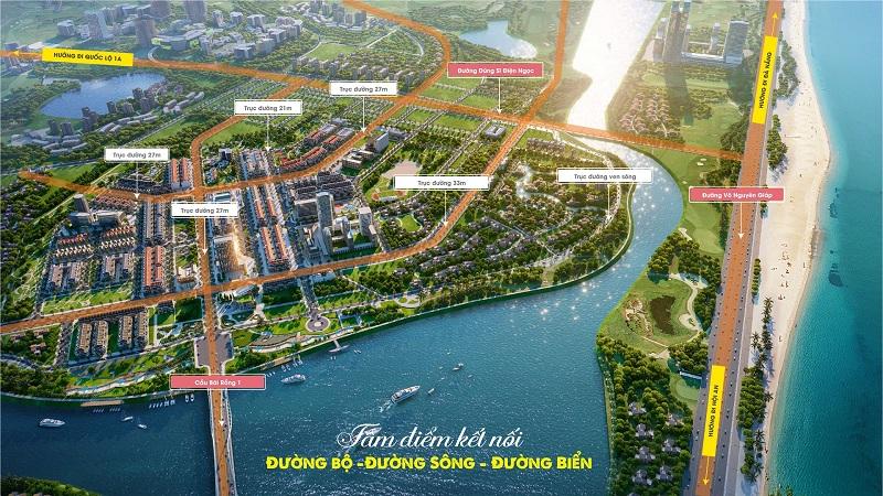 Phối cảnh 1 đất nền Indochina Riverside Complex Nam Đà Nẵng