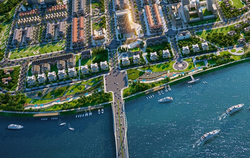Phối cảnh 2 đất nền Indochina Riverside Complex Nam Đà Nẵng