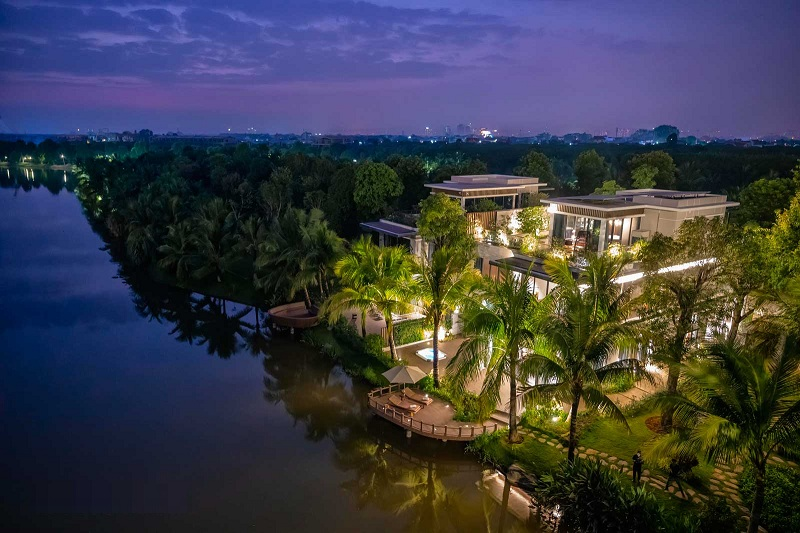 Ảnh thực tế biệt thự mẫu đảo lớn Ecopark Sofitel Residences Villas
