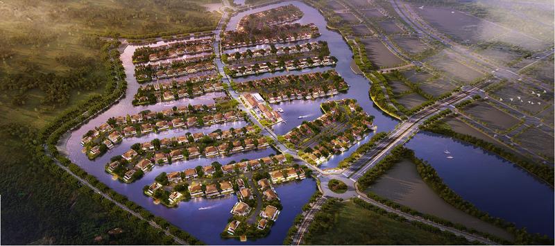 Phối cảnh dự án biệt thự đảo lớn Ecopark Sofitel Residences Villas
