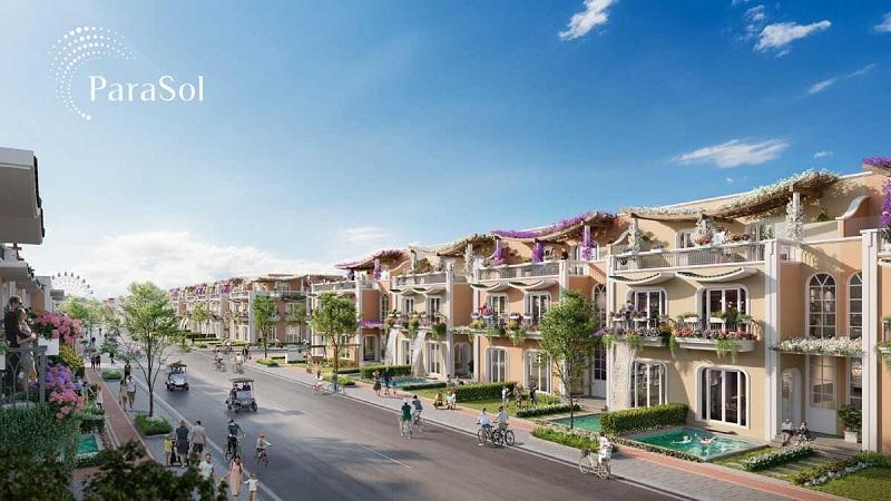 Phối cảnh nhà phố dự án ParaSol KN Paradise Cam Ranh Khánh Hòa