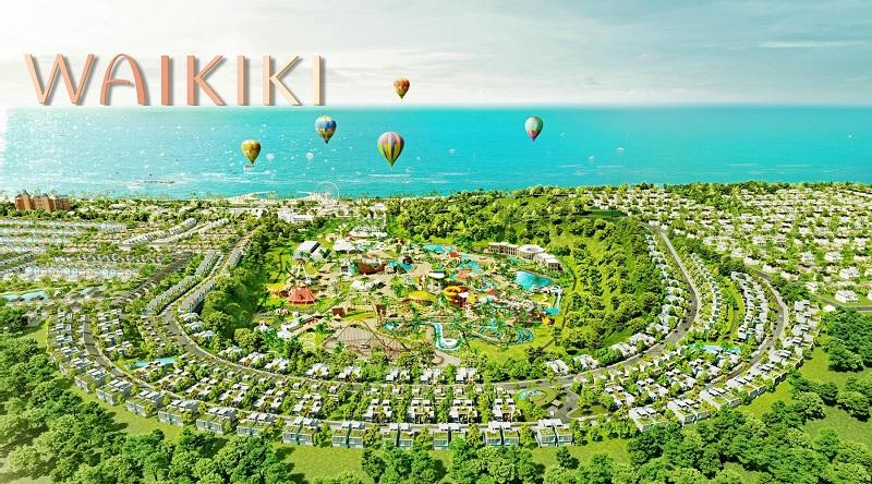 Phối cảnh phân khu biệt thự Waikiki Novaworld Phan Thiết