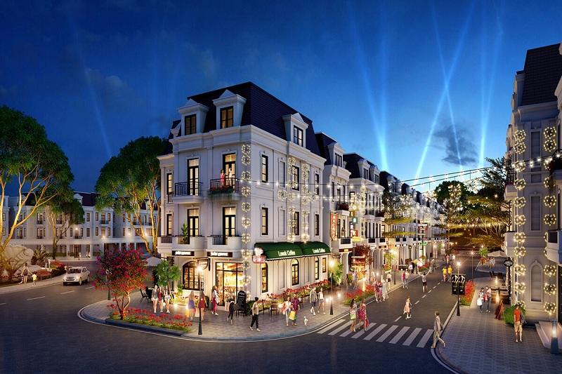 Phối cảnh 2 Shop Villas biệt thự Will State khu B Dương Nội - Tập đoàn Nam Cường