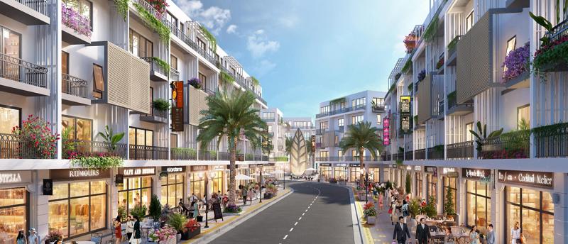 Phối cảnh Shophouse dự án Avenue The Astro Hạ Long Bay - Bãi Cháy