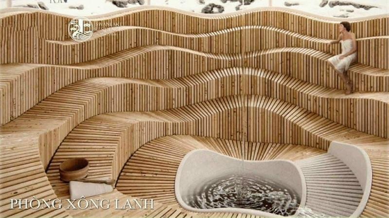 Phòng xông lạnh dự án Shophouse khối đế Swan Lake Onsen Ecopark