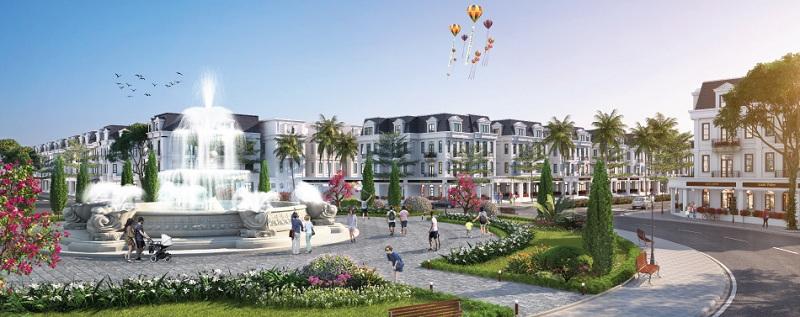 Quảng trường trung tâm biệt thự Will State khu B Dương Nội - Tập đoàn Nam Cường