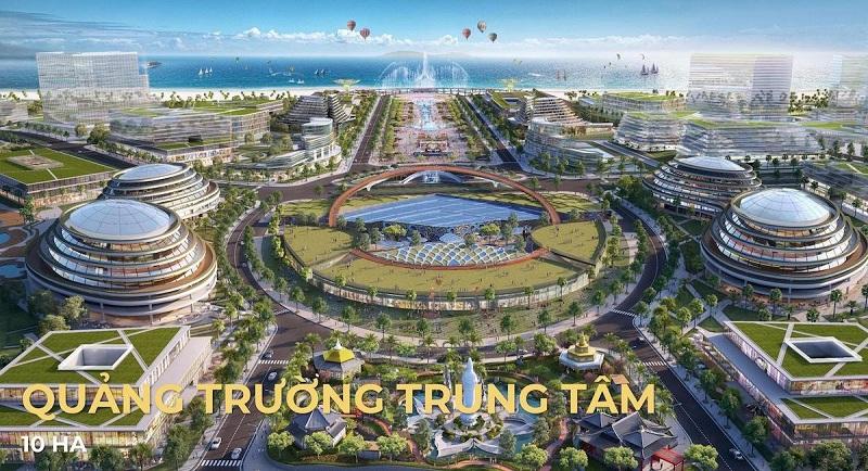 Quảng trường trung tâm dự án ParaSol KN Paradise Cam Ranh Khánh Hòa