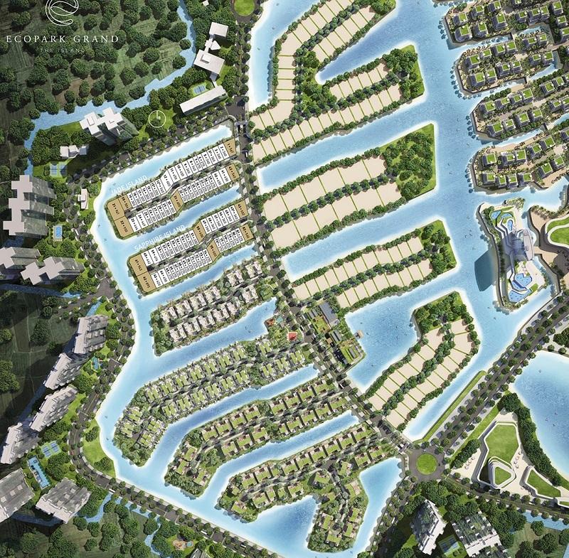 Quy hoạch biệt thự đảo lớn Ecopark Sofitel Residences Villas