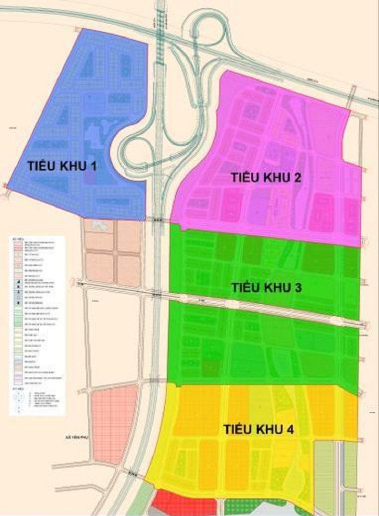 Quy hoạch tiểu khu phân khu A dự án Kim Đô Policity Yên Phong - Bắc Ninh