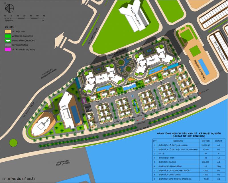 Quy hoạch dự án The Sapphire Mansions Hạ Long - Doji