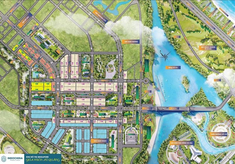Quy mô đất nền Indochina Riverside Complex Nam Đà Nẵng