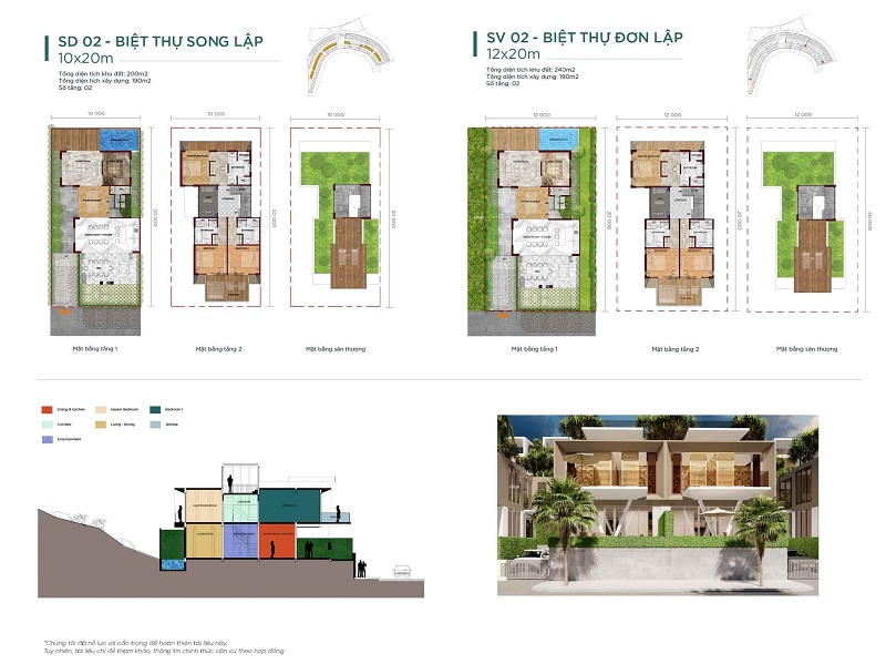 Thiết kế 2 biệt thự Waikiki Novaworld Phan Thiết