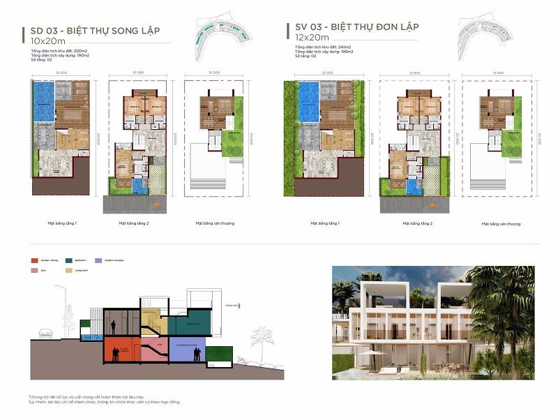 Thiết kế 3 biệt thự Waikiki Novaworld Phan Thiết
