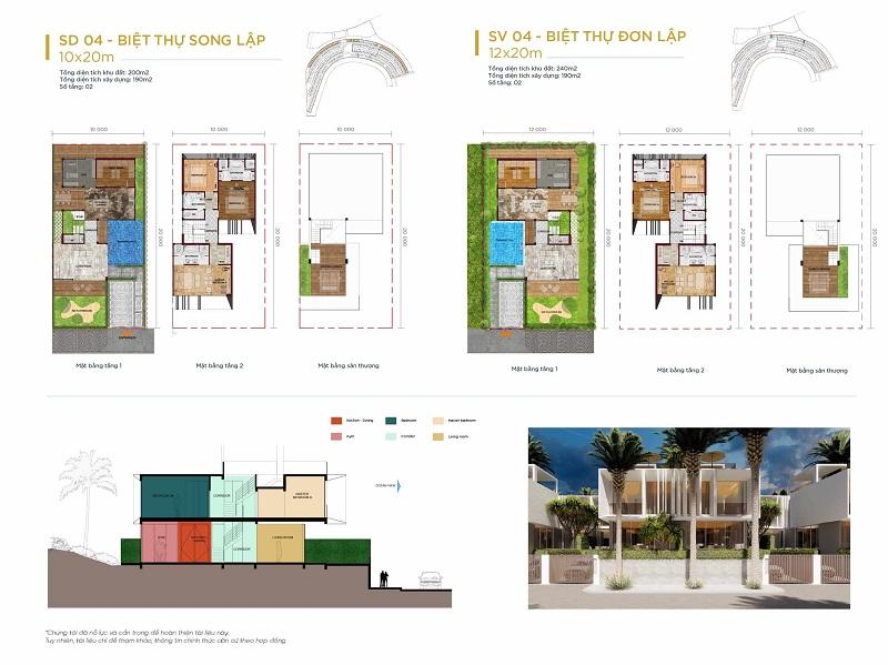 Thiết kế 4 biệt thự Waikiki Novaworld Phan Thiết