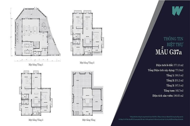 Thiết kế mẫu 1 biệt thự Will State khu B Dương Nội - Tập đoàn Nam Cường