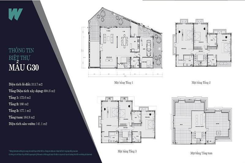 Thiết kế mẫu 2 biệt thự Will State khu B Dương Nội - Tập đoàn Nam Cường